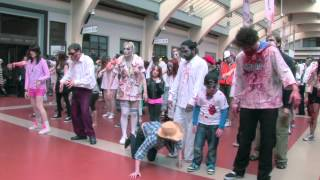 PSY   GANGNAM STYLE (강남스타일) FLESH MOB AT TRAIN STATION (ZOMBIE STYLE)