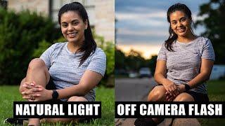 NATURAL LIGHT VS OFF CAMERA FLASH | Why I Prefer Off Camera Flash Over Natural Light