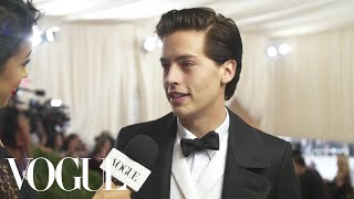 Cole Sprouse on Interning at the Met and His Artistic Aspirations | Met Gala 2018 With Liza Koshy - Video Youtube