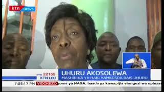Waakazi wa Bungoma wafanya maandamano kumlaumu rais Uhuru Kenyatta kutishia jaji David Maraga