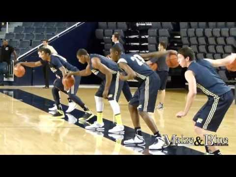 Michigan Basketball Practice on 9/27/13