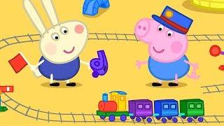 Peppa Pig Świnka Peppa po Polsku | Zabawa z pociągami! | Bajki Po Polsku
