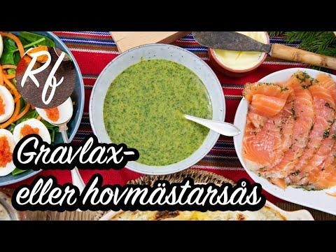 Min variant på Hovmästarsås eller gravlaxsås som serveras till gravad lax till julbord men också som huvudrätt med kokt potatis och citronklyfta. >