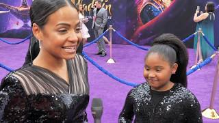 Christina Milian And Daughter Violet Hit The World Premiere Of Disney's Aladdin