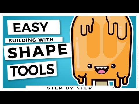 Easy Beginner Adobe Illustrator Tutorial: Building with Shapes