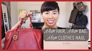New Hair, New Bag, New Clothes Haul (Zara, Saks 5th Ave, TJ Maxx)  |  StyleMinded