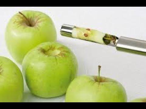 Нож для удаления сердцевины на яблоках. A knife for removing the core, on apples-the HOOD WORKS!