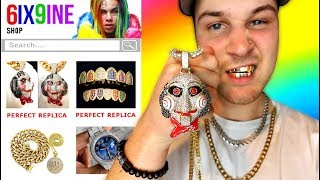 I Bought THE CHEAPEST 6ix9ine Rapper Chains and Merch!! IS IT WORTH IT?!