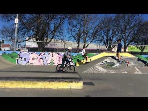 fail after jump - Ashburton scooter trick