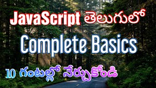 JavaScript Complete Tutorials In Telugu by Kotha Abhishek