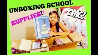 UNBOXING 7TH GRADE SCHOOL SUPPLIES !! /BACK TO SCHOOL  K12  VIRTUAL REALITY SCHOOL / JASSIE
