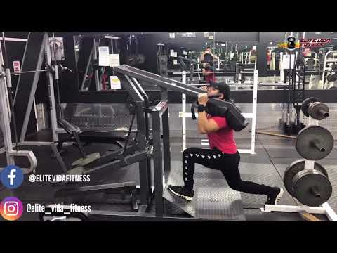 Lever squat machine (split squat)