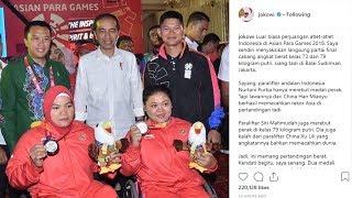 Jokowi Saksikan Dua Atlet Meraih Medali Perak