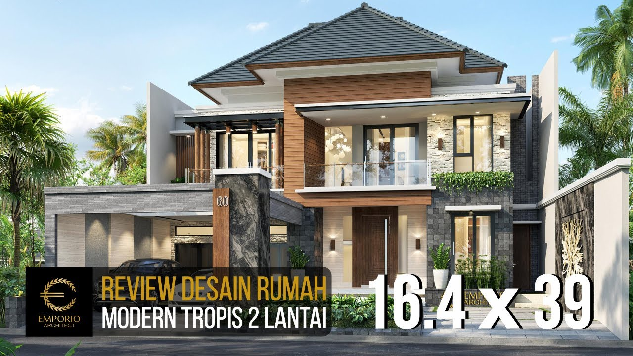 Video 3D Mrs. Asty Modern House 2 Floors Design - Ponorogo, Jawa Timur