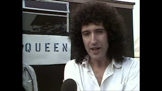 Backstage Snippets: Brian & Roger (at Milton Keynes, 1982)