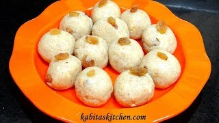 Rava Ladoo Recipe-sooji Khoya Laddu-rava Laddoo With Condensed Milk-easy Indian Sweets
