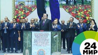Рахмон показал устойчивость Рогунской ГЭС с помощью монетки (ВИДЕО) - МИР 24
