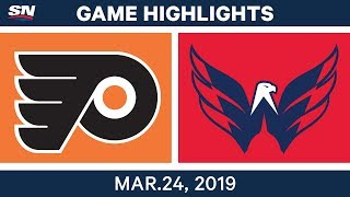 NHL Game Highlights | Flyers vs. Capitals – March 24, 2019