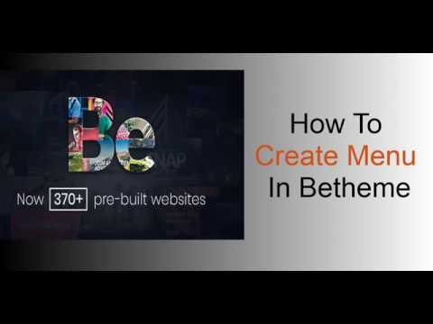 How To Create Menu In Betheme