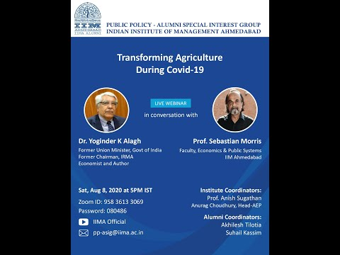 Transforming Agriculture during Covid-19
