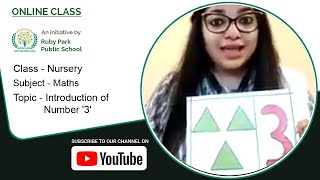Nursery | Introduction of Number 3 | Mathematics for Kids | Learn Numbers | Ruby Park Public School Thumbnail