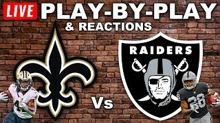 Saints vs Raiders  Live Play-By-Play & Reactions