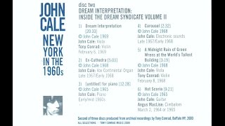 John Cale - Inside the dream syndicate - Dream Interpretation (1969)
