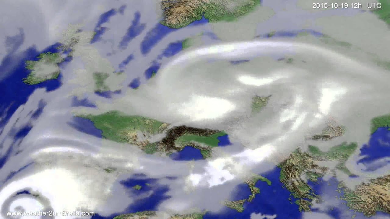 Cloud forecast Europe 2015-10-15