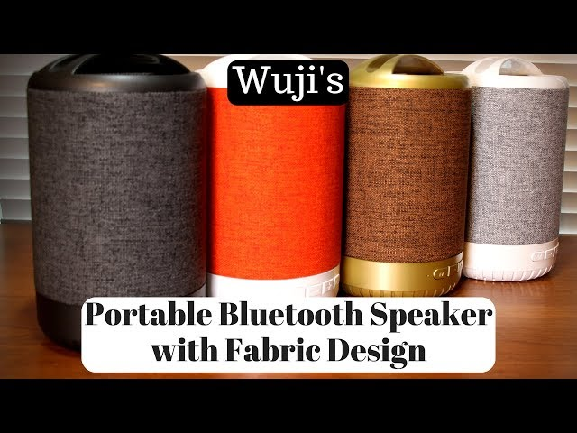 Wuji's Portable Bluetooth Speaker with Fabric Design