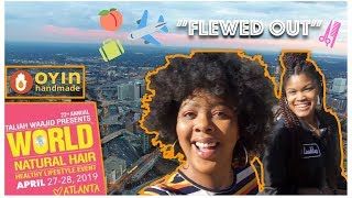 OFFICIALLY A PLATFORM ARTIST | World Natural Hair Show '19 | Atlanta Travel Vlog + GIVEAWAY *Clo