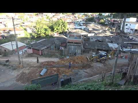 Segue a obra na Favela dos Brancos em Juquitiba