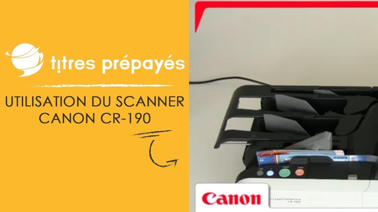 Image YouTube Utilisation du scanner CANON CR-190 pour traiter vos titres