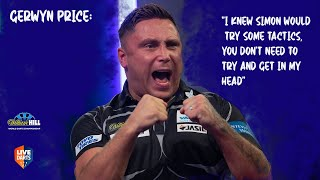 "Gerwyn Price: ""I knew Simon would try some tactics, you don't need to try and get in my head"""