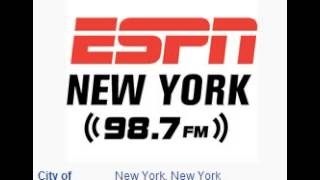 WEPN-FM ESPN Radio 98.7 FM New York, NY TOTH ID at 1:00 a.m. 10/18/2014