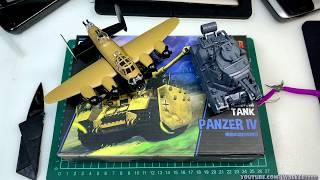 Panzer IV Немецкий средний танк (World War Toons series) . MENG MODEL WWT-013 от компании Хоббинет. Сборные модели. - видео