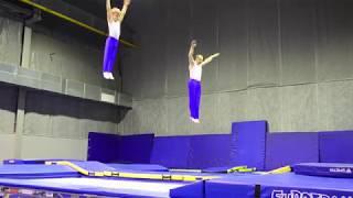 Кучеренко Иван и Андрей. Батут, синхрон. Kucherenko Andrew and Ivan. Synchrone trampoline.