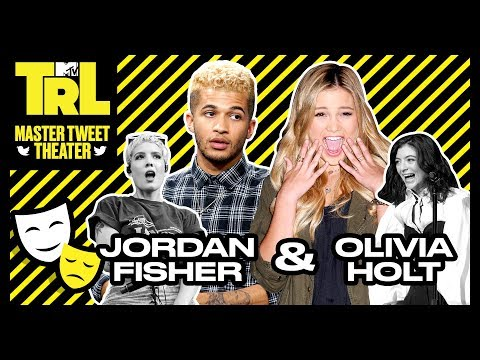 Olivia Holt & Jordan Fisher Act Out Celebrity Tweets | Master Tweet Theatre | TRL Weekdays at 4pm