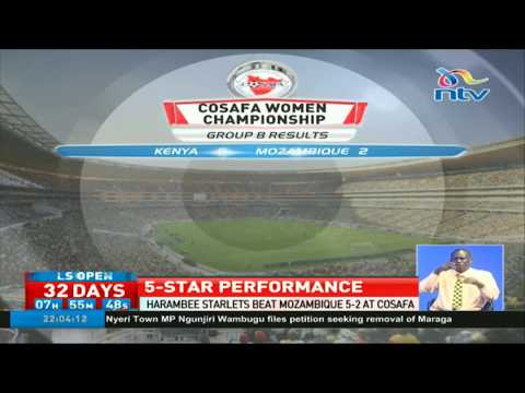 Harambee Starlets thrash Mozambique 5-2 at COSAFA