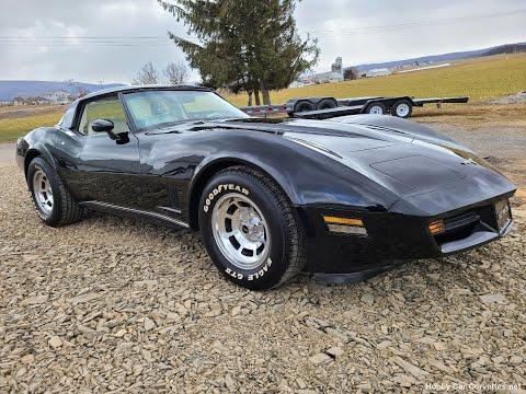 1980 Black Corvette 4spd Oyster Interior For Sale Video