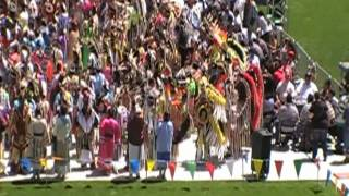 *HQ HD* Flag & Victory Song @ Gathering Of Nations Powwow 2010 GON Saturday Noon