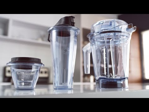 Juego 2 vasos de 600ml + base cuchillas Vitamix serie Ascent
