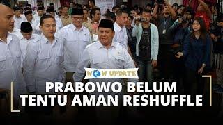 Prabowo Belum Tentu Aman dari Reshuffle Meski Terpopuler dan Kinerja Terbaik