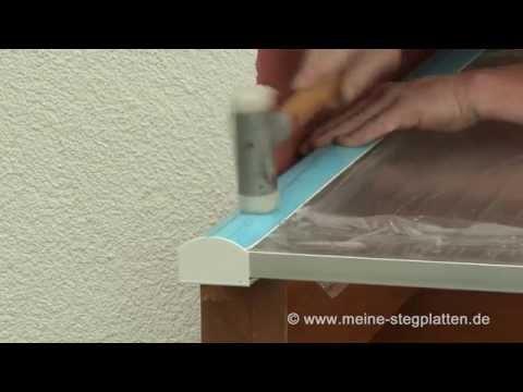 Verlegeanleitung Doppelstegplatten Alu PVC Profil Teil 4