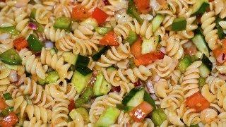 Italian Dressing Pasta Salad - Healthy Dish How to Make Pasta Salad