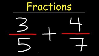 Fractions Basic Introduction - Adding, Subtracting, Multiplying & Dividing Fractions