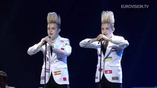 Jedward - Waterline (Ireland) 2nd rehearsal and backstage