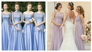 Gorgeous Bridesmaid Dresses/long Bridesmaid Dresses/simple And Stylish Bridesmaid Gown.