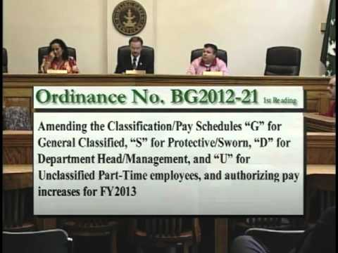 6/7/12 Board of Commissioners Special Session
