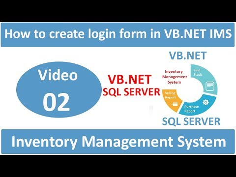 how to create login form in vb.net inventory management system