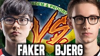 FAKER vs BJERGSEN In Brazil SoloQ! - The Battle Of Gods ( Who is The Best? ) | SKT T1 Replays